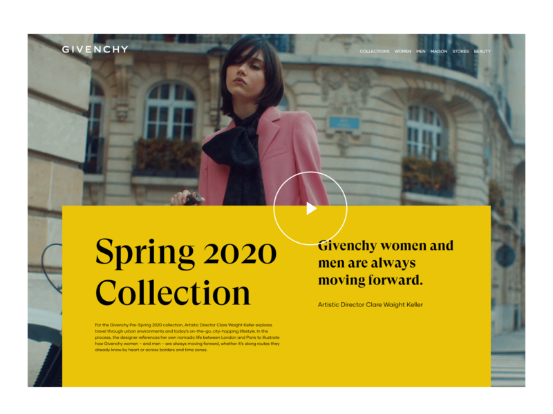 Givenchy Collection Exploration luxury website web concept art direction ux ui 2020 design modern fancy photography image video collection fashion givenchy