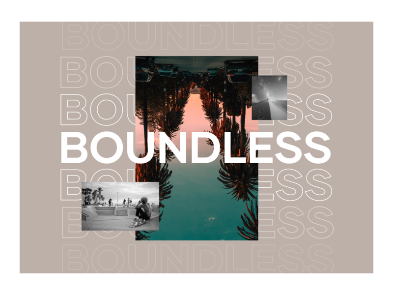 Boundless Exploration 2 design summer palms visual design travel extreme sport branding brand exploration