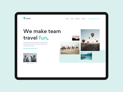 Team Travel website design layout web ux design ui design photography landing page home page video adventure gallery travel team