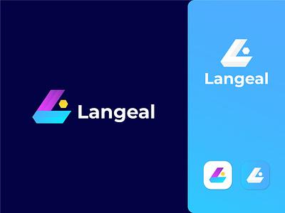 Langeal Logo Design logo design logodesign logodesigner logos creative logo branding logoinspiration logomark logotype modern logo letter logo logo modern app minimal logo brand identity logo branding logoplace logopad
