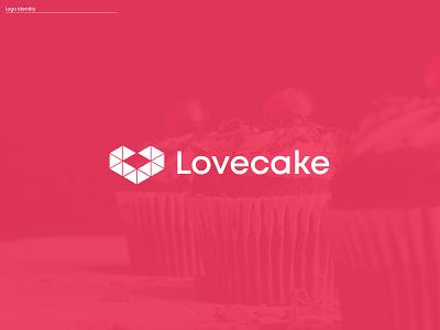 Lovecake Logo Design app icon creative logo logo design hexagon logo logo brand branding brand identity figma cake bakery cake shop sweets logotype minimal branding mark