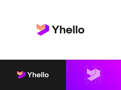 Yhello,Modern Y Logo app icon logo design branding brand identity modern y abstract tech logo modern logo marketing logo digital agency advertising logo startup company app logo illustration ecommerce gradient visual identity corporate business logo