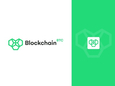 Blockchain Logo Design brand identity ui cryptologo branding btc logo minted btc crypto cryptocurrency wallet block blockchain creative logo logo design token digital art crypto art chain connect loop