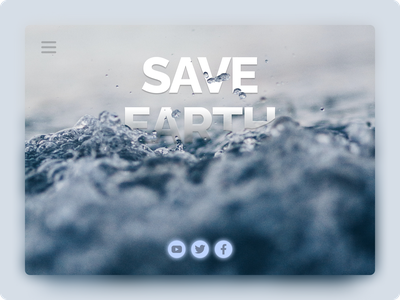SaveEarth card 3d beautiful ux ui water photo planet figmadesign save earth fish figma
