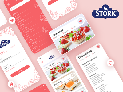 Stork mobile app - baking app redesign v.2 cook wroclaw design user interface user experience ui  ux redesign recipe app recipe figma baking application app design app