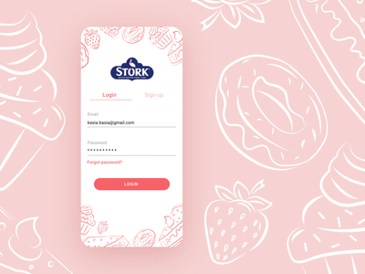Stork mobile app - baking app redesign v.4 design wroclaw illustraion draw application cook app design user interface user experience ui  ux redesign recipe figma baking app