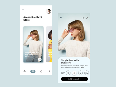 Thrift Store UI Design ui  ux ui mobile ui app product design