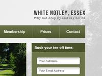 Header & Sidebar for golf website