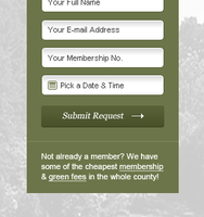 Simple tee-off time booking form for golf website