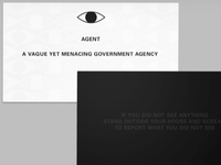 Night Vale - A Vague Yet Menacing Business Card