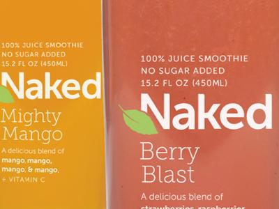 0007 naked packaging juice drink naked type minimal student logo branding