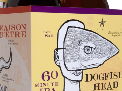 0008 dogfish head packaging beer shark dogfish illustration alcohol branding
