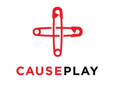 causeplay logo clothing safety pin charity cosplay logo