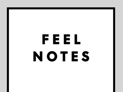 feel notes black and white feels journal type notebook
