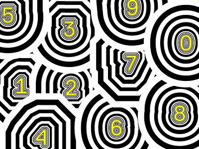numbers mural typography geometric type numbers