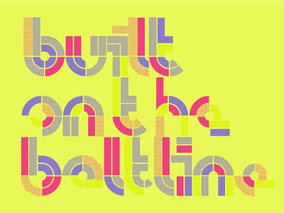 built on the beltline neon t-shirt typography atlanta beltline