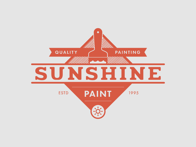 Sunshine Quality Painting sunshine painting branding logo