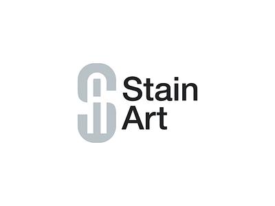 Stain Art clean wordmark minimalistic lighting branding logo