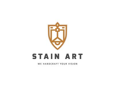 Stain Art lighting minimalistic minimal clean identity branding logo