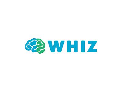 Whiz simple san serif clean minimal branding logo