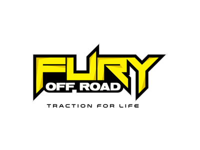 Fury Off Road word mark edgy aggressive off road tires branding logo