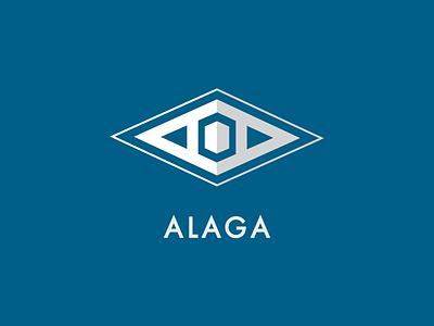 Alaga simple minimalistic minimal clean identity branding logo