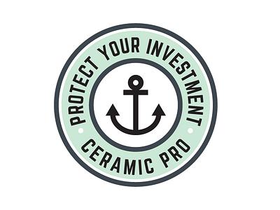 Ceramic Pro badge design minimalistic simple badge clean