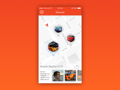 RevLyfe Discover Screen groupride app iphone ux ui