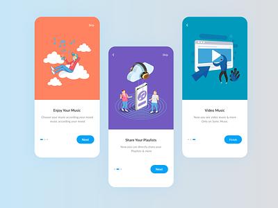 Music App ui userinterface screens phone app illustration uiux design mobile
