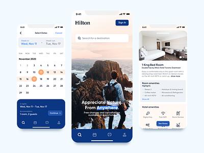 Hilton App - Concept Redesign travel hotel hilton mobile app