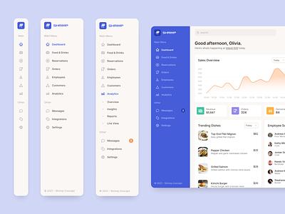 Dashboard Navigation analytics app ux ui navigation dashboard