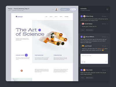 Project Feedback collaboration social network ux ui mobile marketing landing page homepage portfolio activity feed comments design feedback client teams dashboard app web