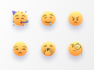 iOS emoji redesign conversational chatbot chat app emoji set illustration icon app webdesign ux design ui mood symbols emote emojis emotions emoji emotion
