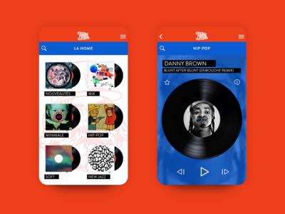Le Tournedisque App redesign