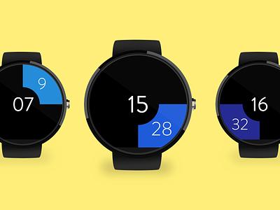 Watch UI design time hour horloge ui