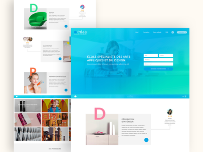 edaa website design landingpage webdesign ui ux