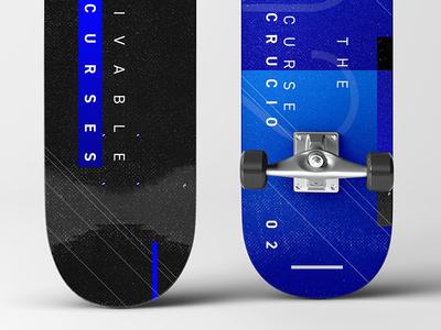 02 The Cruciatus Curse: Crucio | The Unforgivable Curses typography type design graphic design skateboards skateboard