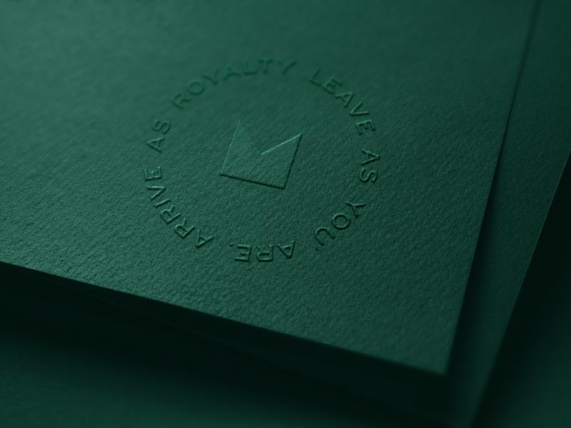 Emerald by Emirates Logo logomark logotype embossed embossing emboss type logo branding print identity system graphic design brand typography