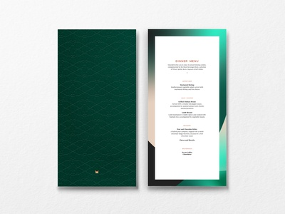Emerald by Emirates in flight menu emboss design emboss gold foil logo identity design menu design menu card menu print identity system branding brand graphic design typography