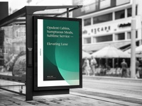Emerald by Emirates bus stop advertisement