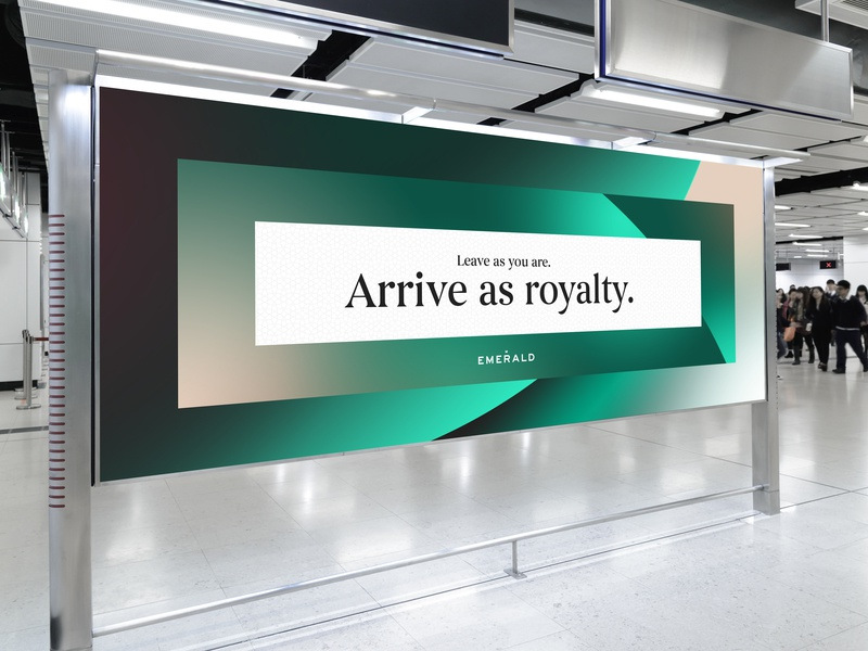 Emerald by Emirates Poster illustration vector print design visual identity identity type design rebrand identity design type print identity system branding brand poster graphic design typography