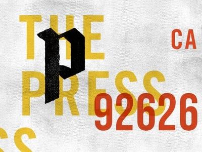 The Press print texture branding brand graphic design typography