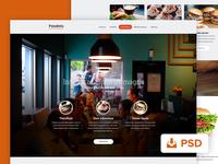 Panakera free PSD template