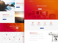 Drone zone - free PSD template