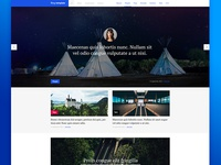 Blog PSD template