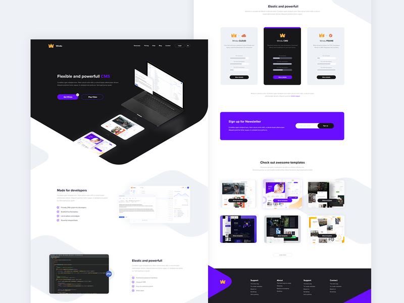 Windu 4 - landing page 💾 windu cms design ux webdesign ui web