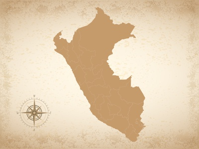 Vintage map of Peru vintage map peru