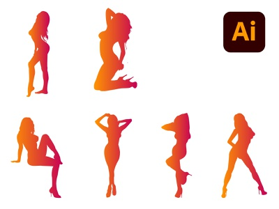 Sexy Girls Silhouette [EPS] download eps silhouette girl sexy