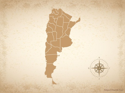 Argentina map old vintage countries map
