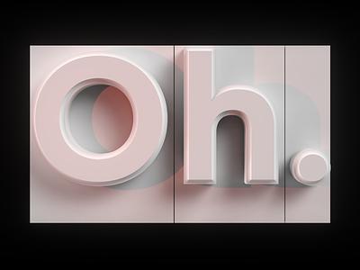 Oh... Gogh gradientic geometry typography 3d